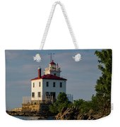 Fairport Harbor Lighthouse Panoramic Weekender Tote Bag