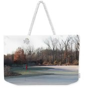 Fairway Hills - 7th - Beware Of The Tree And The Pond Panorama Weekender Tote Bag