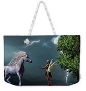 Fairy And Unicorn Weekender Tote Bag