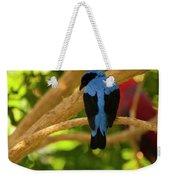 Fairy Bluebird Male Digital Oil  Weekender Tote Bag