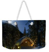 Fairy House In The Forest Moonlit Winter Night Weekender Tote Bag