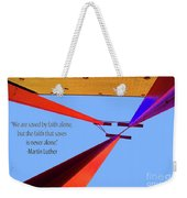 Faith Alone Weekender Tote Bag