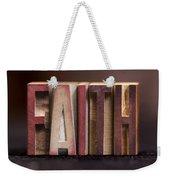 Faith - Antique Letterpress Letters Weekender Tote Bag