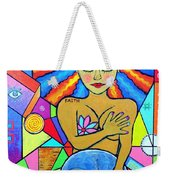 Faith, She Carries The World On Her Hips Weekender Tote Bag
