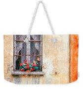 Fake Flowers On Window Weekender Tote Bag