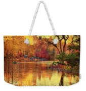 Fall Afternoon In Central Park Weekender Tote Bag