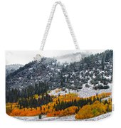 Fall And Winter Collide  Weekender Tote Bag