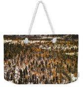 Fall And Winter On The Same Day Weekender Tote Bag