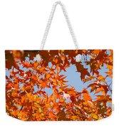Fall Art Prints Orange Autumn Leaves Baslee Troutman Weekender Tote Bag