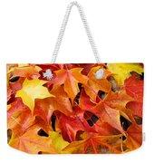 Fall Art Prints Red Orange Yellow Autumn Leaves Baslee Troutman Weekender Tote Bag