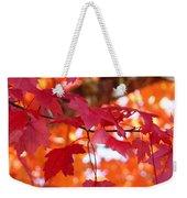Fall Art Red Autumn Leaves Orange Fall Trees Baslee Troutman Weekender Tote Bag