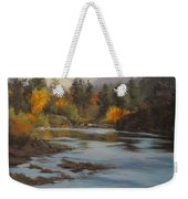 Fall At Colliding Rivers Weekender Tote Bag