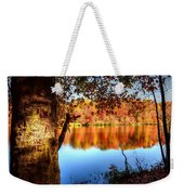 Fall At Lake Weekender Tote Bag