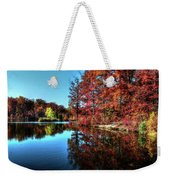 Fall At The Crosspointe Lake Weekender Tote Bag