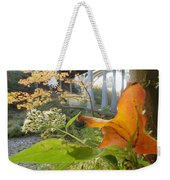 Fall At The River Weekender Tote Bag