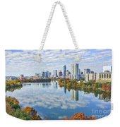 Fall Austin Skyline Weekender Tote Bag