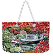 Fall Bridge In Manito Park Weekender Tote Bag by Carol Groenen