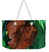 Fall Brown Leaf Weekender Tote Bag