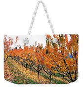 Fall Cherry Orchard Weekender Tote Bag