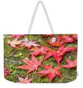 Fall Color Maple Leaves At The Forest In Nikko, Tochigi, Japan Weekender Tote Bag
