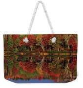Fall Color Reflected In Thornton Lake Michigan Weekender Tote Bag
