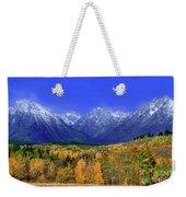 Fall Colored Aspens Grand Tetons Np Weekender Tote Bag