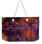 Fall Colors And Geese Weekender Tote Bag