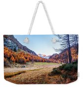Fall Colors At Alpe Devero Weekender Tote Bag