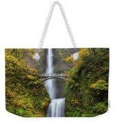 Fall Colors At Multnomah Falls Weekender Tote Bag