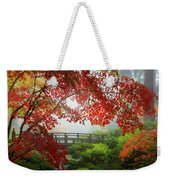 Fall Colors By The Moon Bridge Weekender Tote Bag