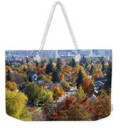 Fall Colors In Spokane From The Post Street Hill Weekender Tote Bag