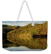 Fall Colors On Lake Reflection Weekender Tote Bag