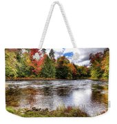 Fall Colors On The Moose River Weekender Tote Bag