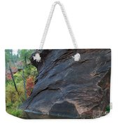 Fall Colors Peek Around Mountain Horizontal Number 1 Weekender Tote Bag