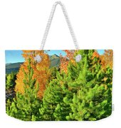 Fall Comes To Dillon Colorado Weekender Tote Bag