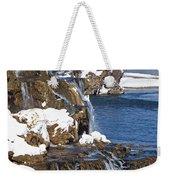 Fall Creek Falls In Winter Weekender Tote Bag