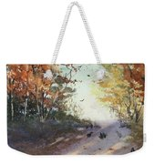 Fall Early Morning Weekender Tote Bag
