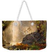 Fall Falls Mist  Dead River Falls  Marquette Mi Weekender Tote Bag