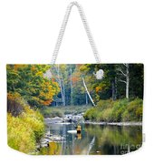 Fall Fishing Weekender Tote Bag