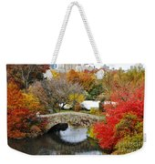 Fall Foliage In Central Park Weekender Tote Bag