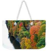 Fall Foliage In Hudson River 1 Weekender Tote Bag