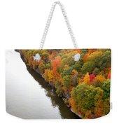 Fall Foliage In Hudson River 10 Weekender Tote Bag