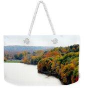 Fall Foliage In Hudson River 13 Weekender Tote Bag