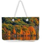 Fall Foliage In Hudson River 14 Weekender Tote Bag