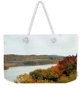 Fall Foliage In Hudson River 5 Weekender Tote Bag