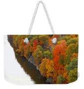 Fall Foliage In Hudson River 6 Weekender Tote Bag