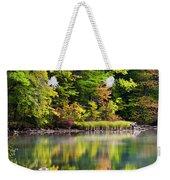 Fall Foliage Reflection Weekender Tote Bag