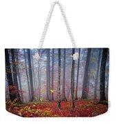 Fall Forest In Fog Weekender Tote Bag