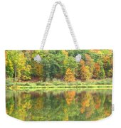 Fall Forest Reflection Weekender Tote Bag