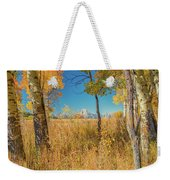 Fall From Oxbow Bend In Grand Tetons Weekender Tote Bag